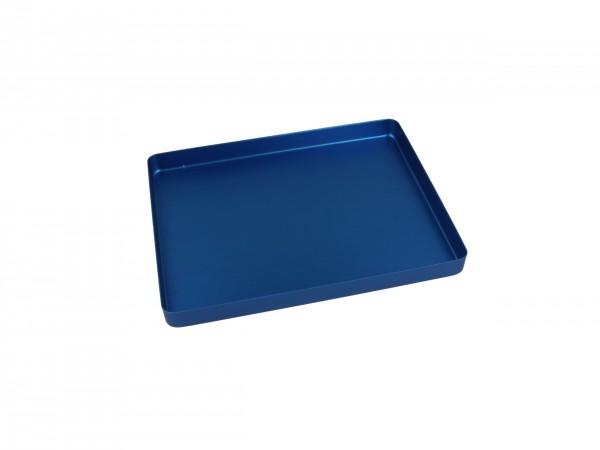 Trayboden klein, ungelocht, blau
