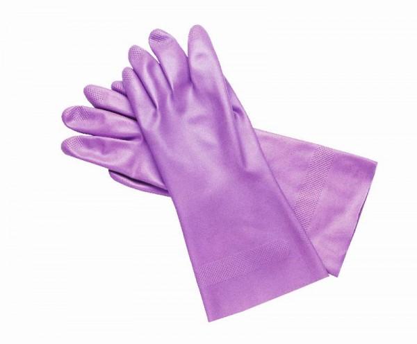 Schutzhandschuhe aus Nitril mit langer Stulpe