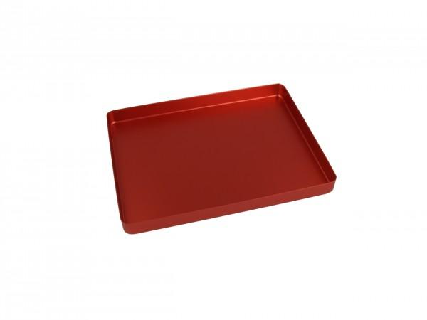 Trayboden klein, ungelocht, rot