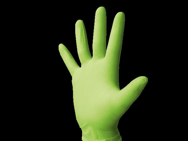 Monoart Latexhandschuhe puderfrei cedrogrün