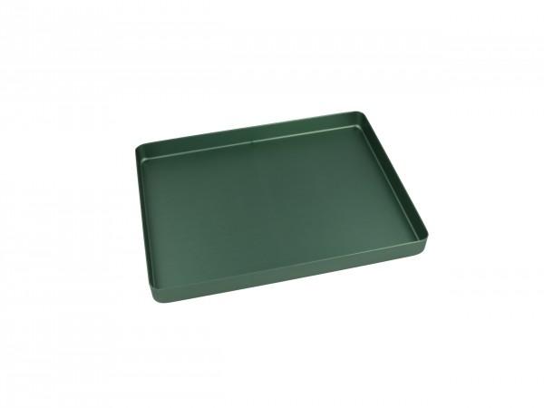 Trayboden klein, ungelocht, grün