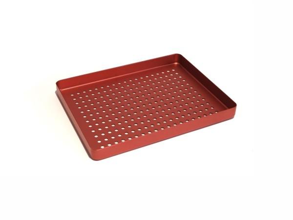 Trayboden klein, mit Löchern, rot