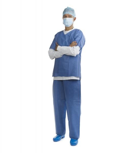 OP-Anzug 2-teilig blau Mikrofaser