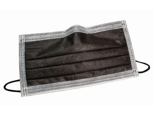 Mundschutz schwarz mit Gummizug