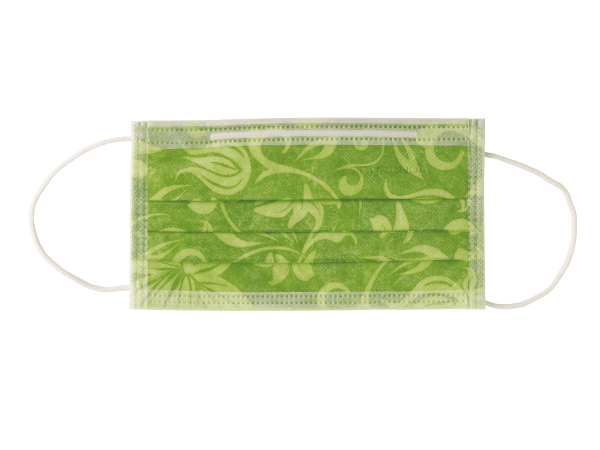 Mundschutz mit Flower-Motiv cedrogrün