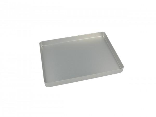 Instrumententray Alu, 18 x 14 cm, silber