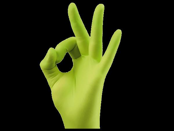 Monoart Einmalhandschuhe Nitril cedrogrün