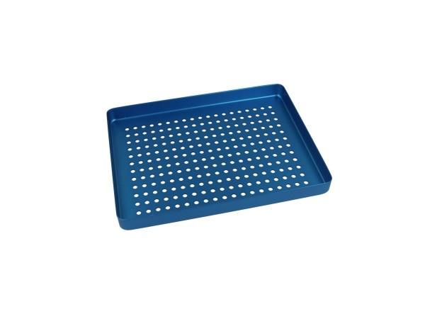 Trayboden klein, mit Löchern, blau
